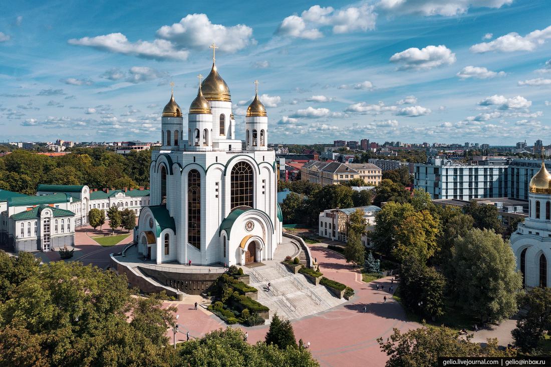 калининград, калининград с высоты, Кафедральный собор Христа Спасителя