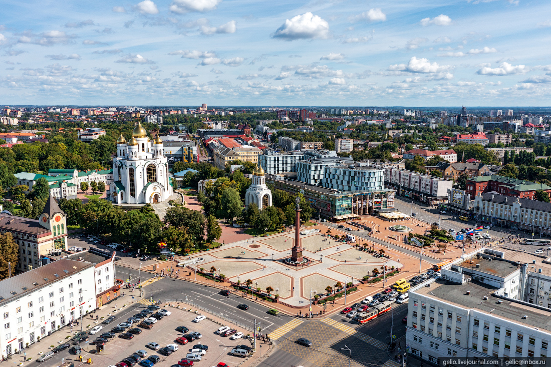 калининград, калининград с высоты, Триумфальная колонна, площадь победы