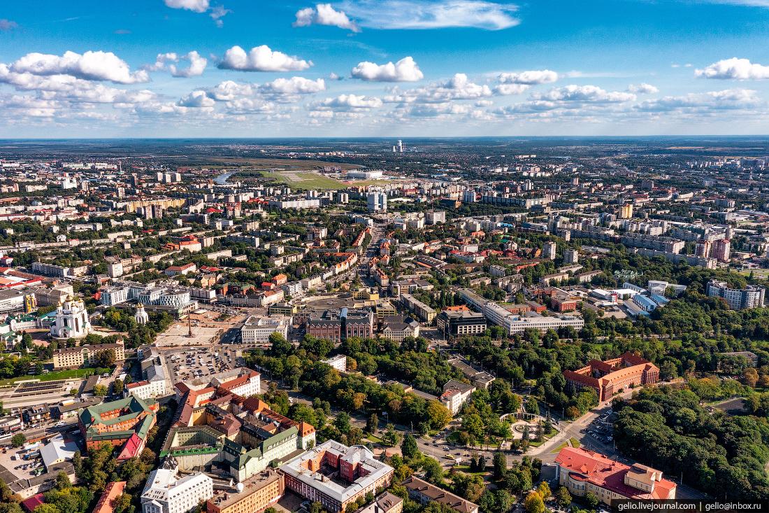 калининград, калининград с высоты, проспект мира
