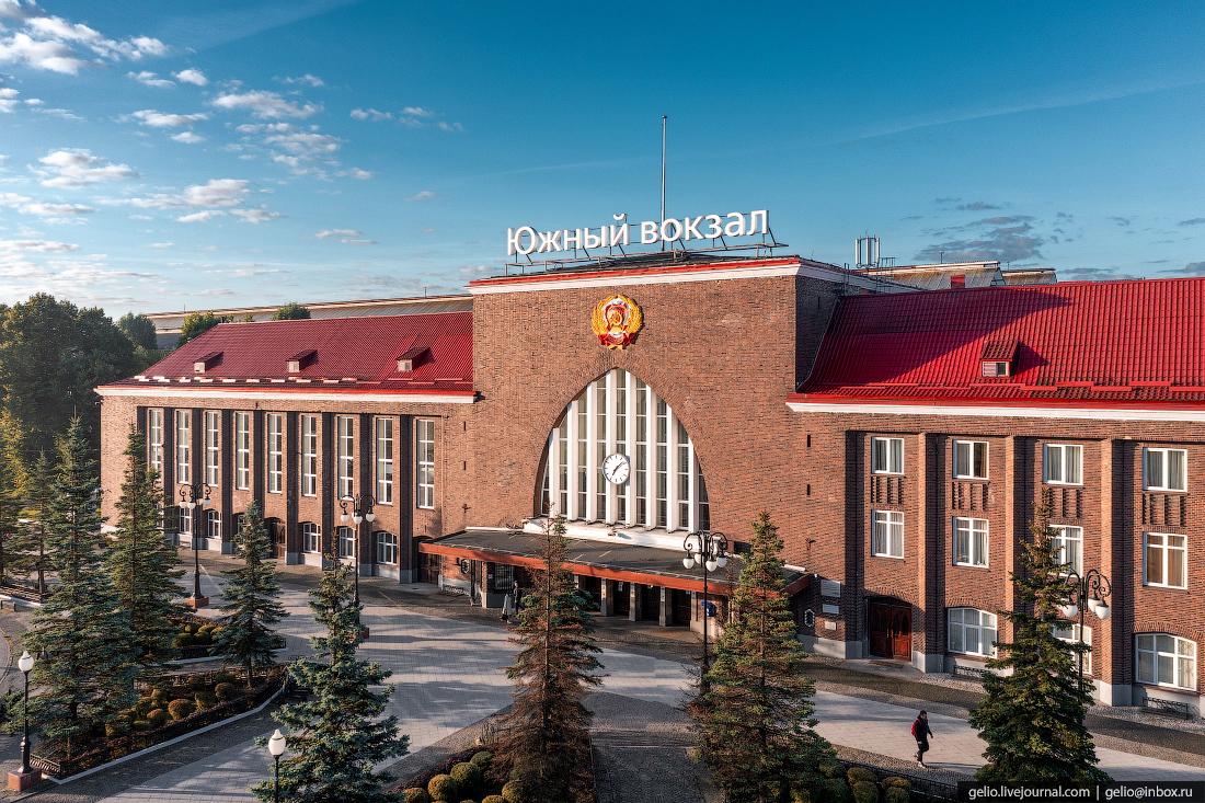 калининград, калининград с высоты, вокзал