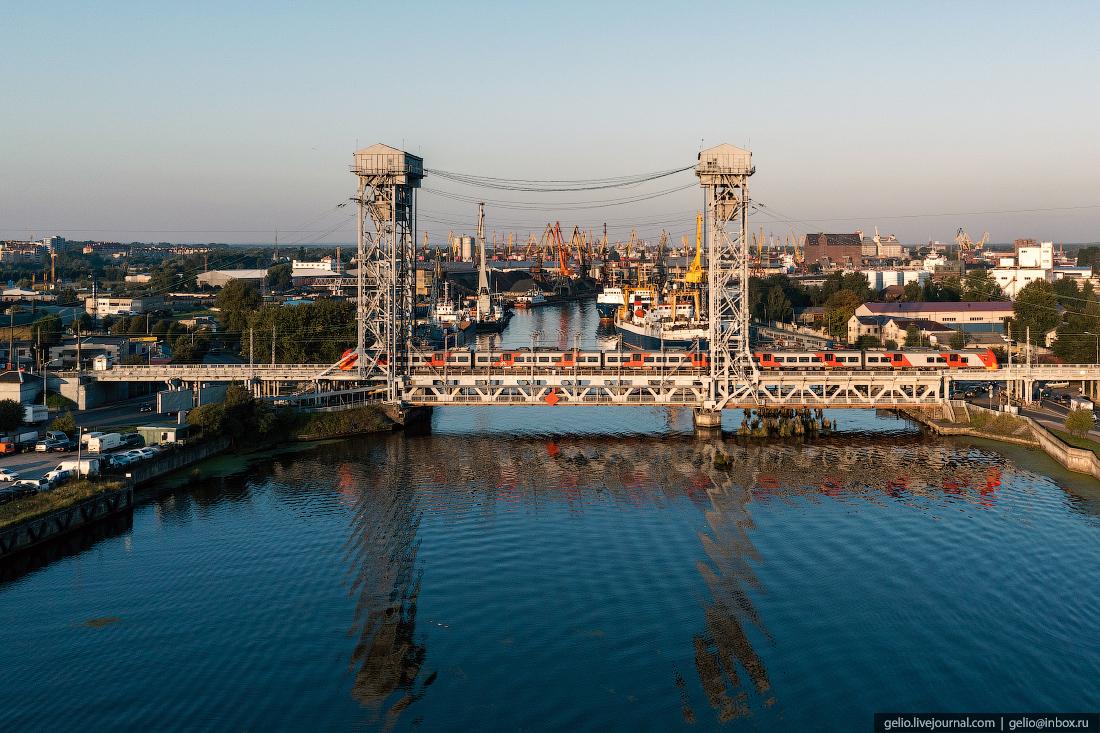 калининград, калининград с высоты, Двухъярусный мост