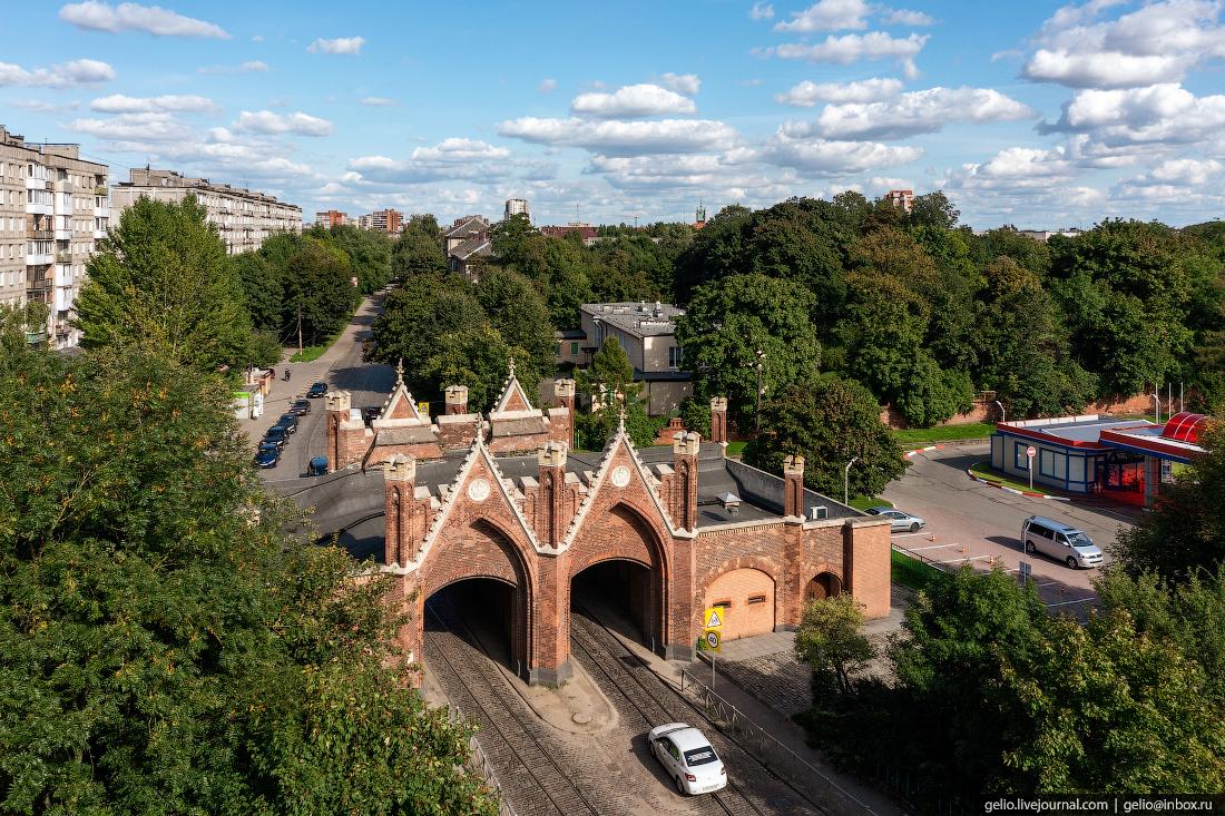 калининград, калининград с высоты, Бранденбургские ворота