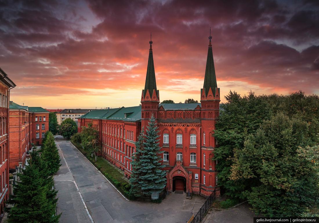 калининград, калининград с высоты, рыбопромышленный колледж