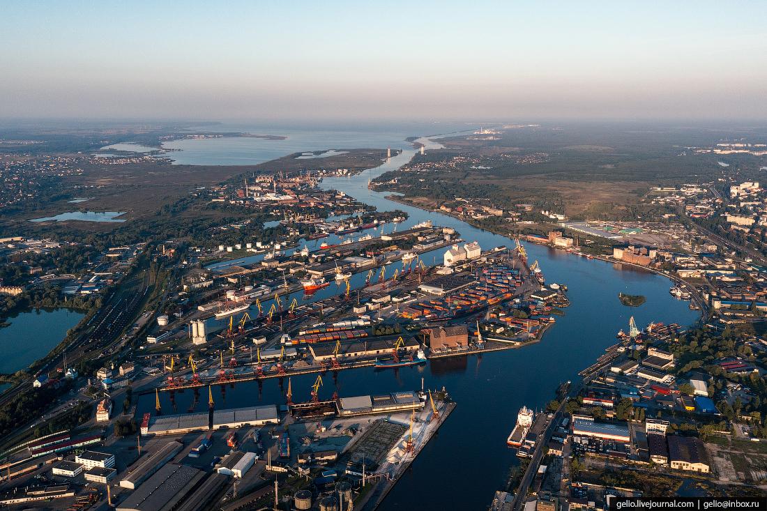 калининград, калининград с высоты, Морской Торговый порт