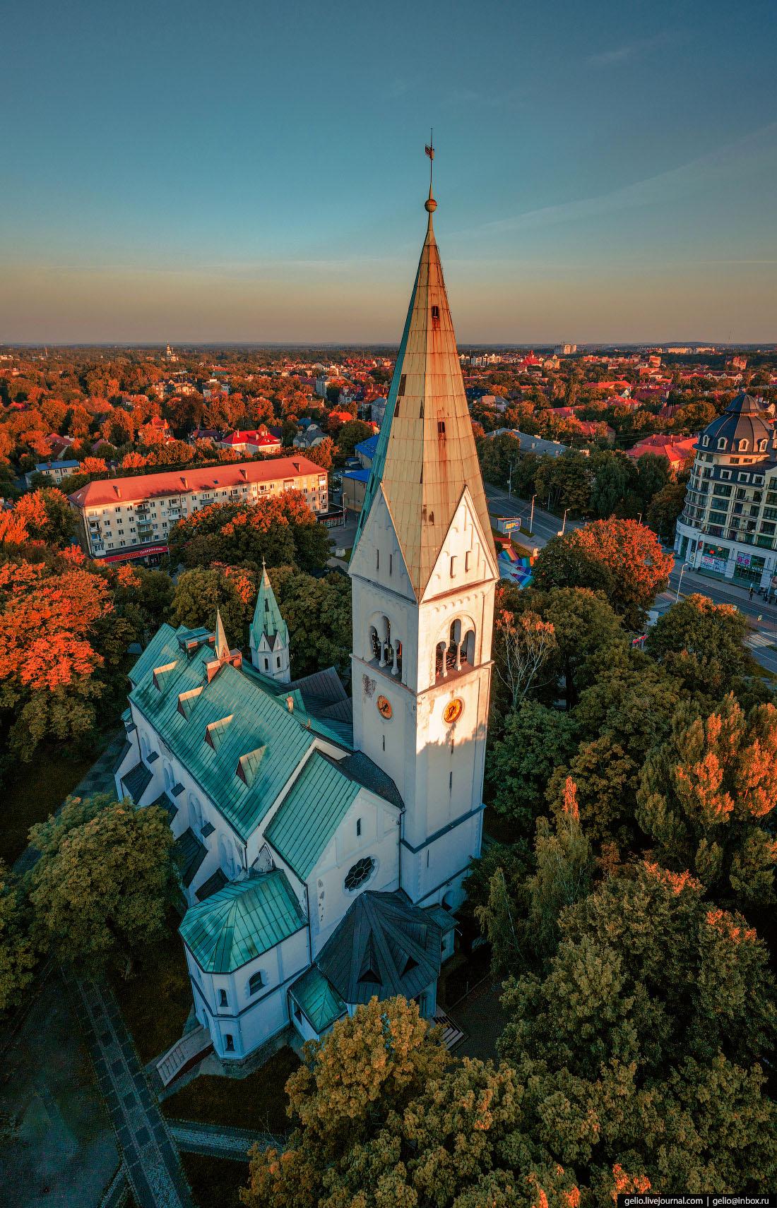 калининград, калининград с высоты, областной театр кукол, Кирха памяти королевы Луизы