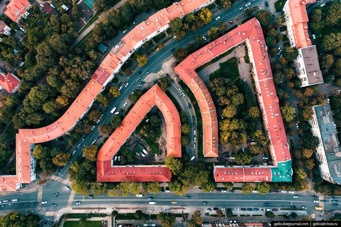 калининград, калининград с высоты, Хагенштрассе, застройка