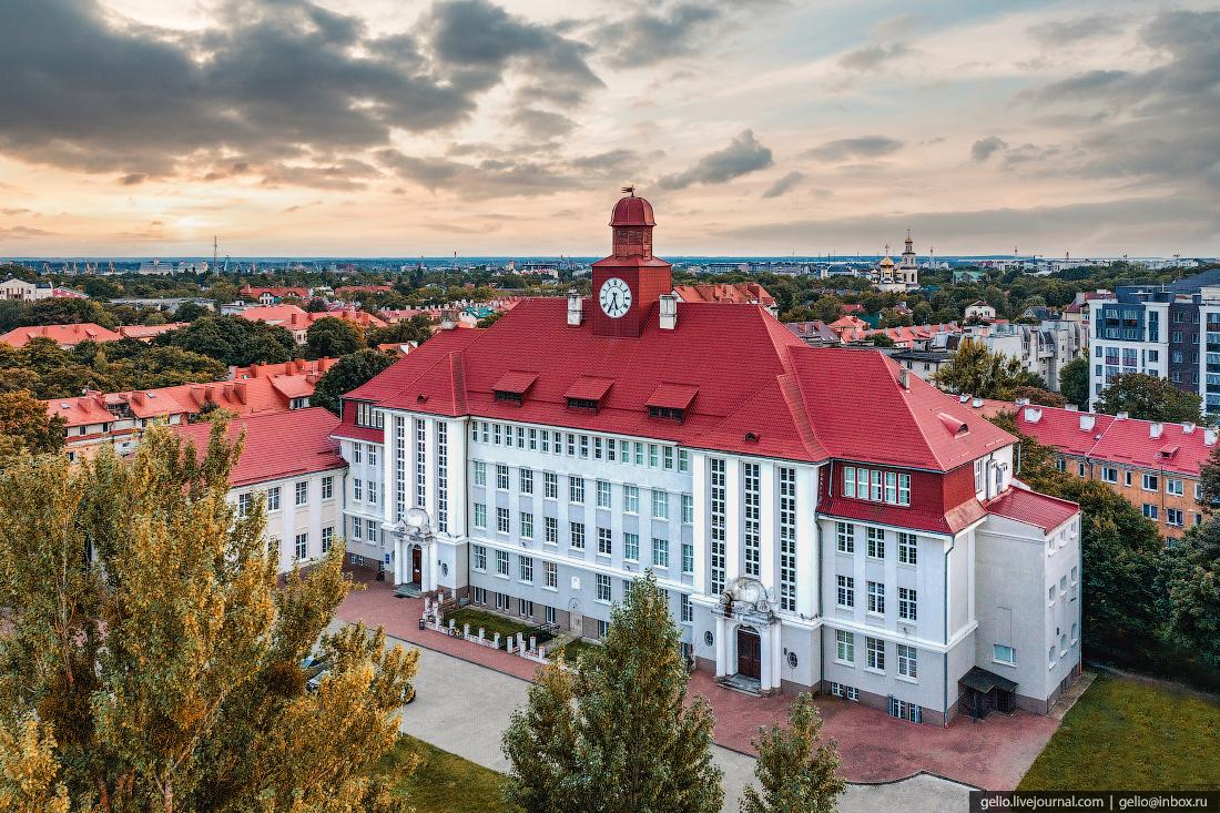 калининград, калининград с высоты, Балтийский федеральный университет