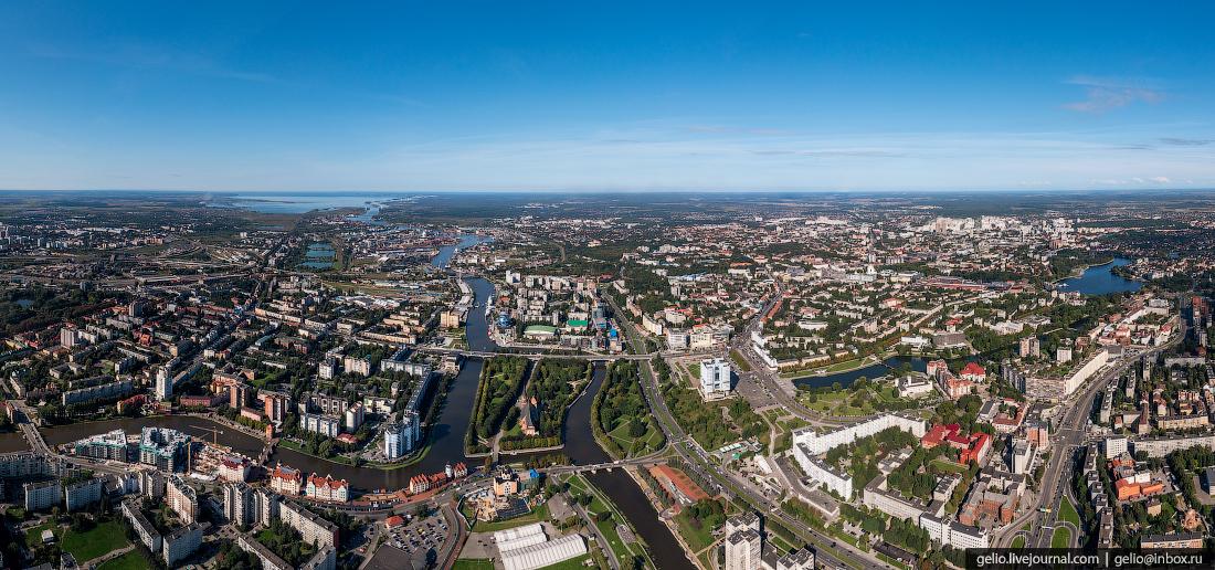 калининград, калининград с высоты, панорама