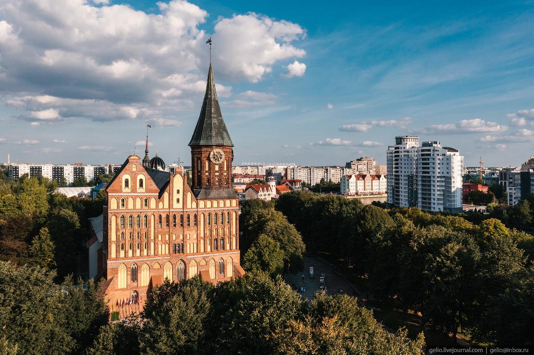 калининград, калининград с высоты, кафедральный собор
