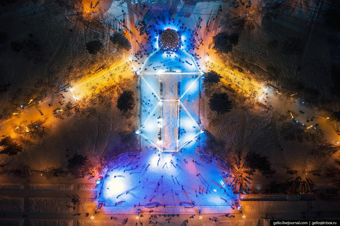 каток Новосибирск, главная ёлка города