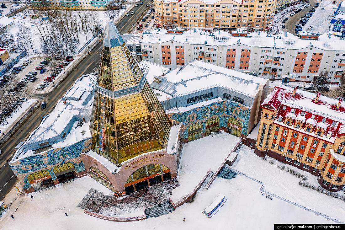 Ханты-Мансийск с высоты Гостиный двор