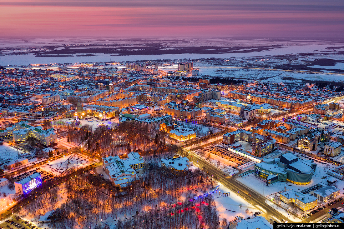 Ханты-Мансийск с высоты Парк Победы