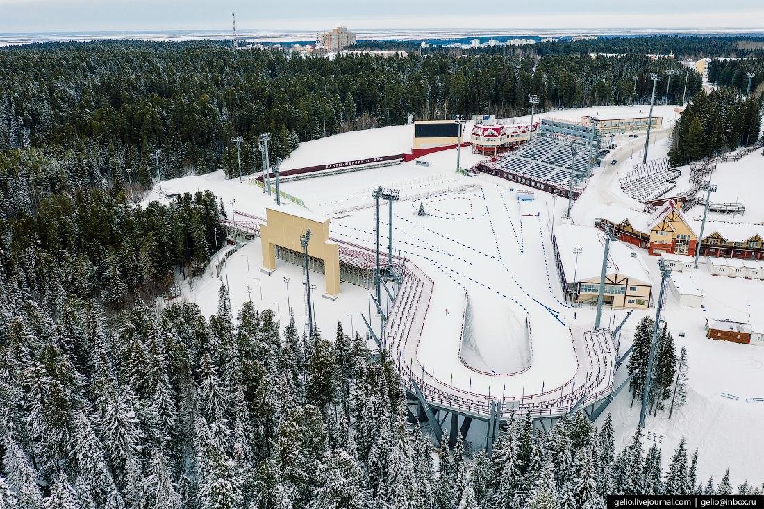 Ханты-Мансийск с высоты Центр зимних видов спорта Филипенко