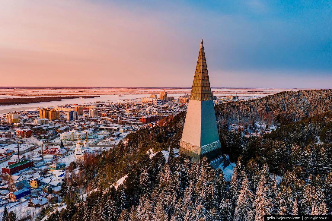 Ханты-Мансийск с высоты Пирамида