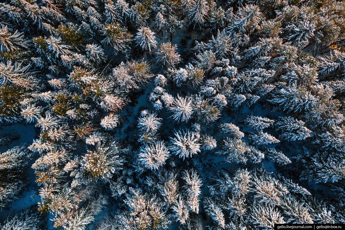 Ханты-Мансийск с высоты Природный парк Самаровский Чугас