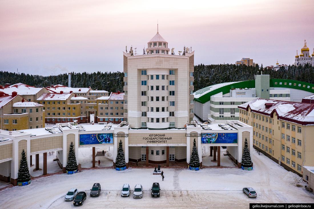 Ханты-Мансийск с высоты Югорский государственный университет