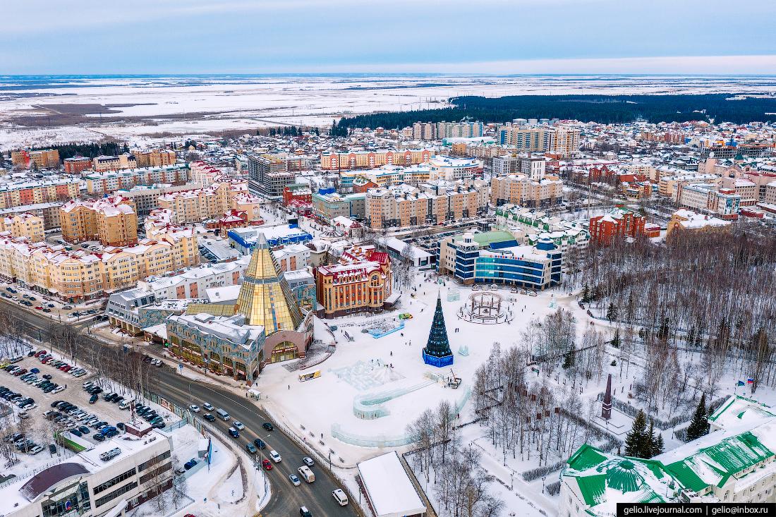 Ханты-Мансийск с высоты Энгельса
