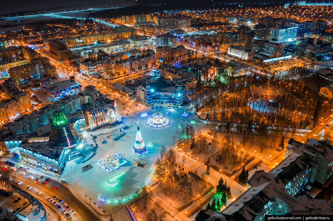 Ханты-Мансийск с высоты