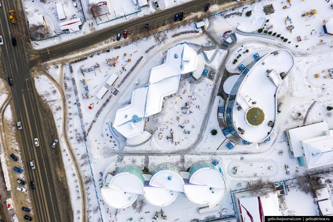 Ханты-Мансийск с высоты детский сад