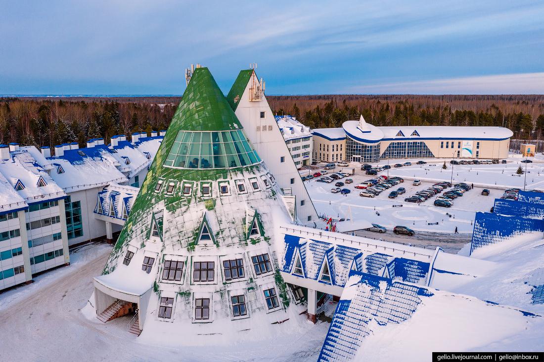 Ханты-Мансийск с высоты Cronwell Resort Югорская Долина