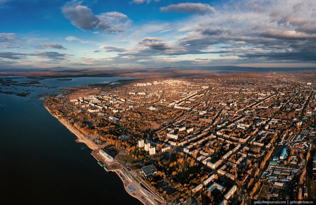 Комсомольск-на-Амуре с высоты, комса, панорама, набережная, амур