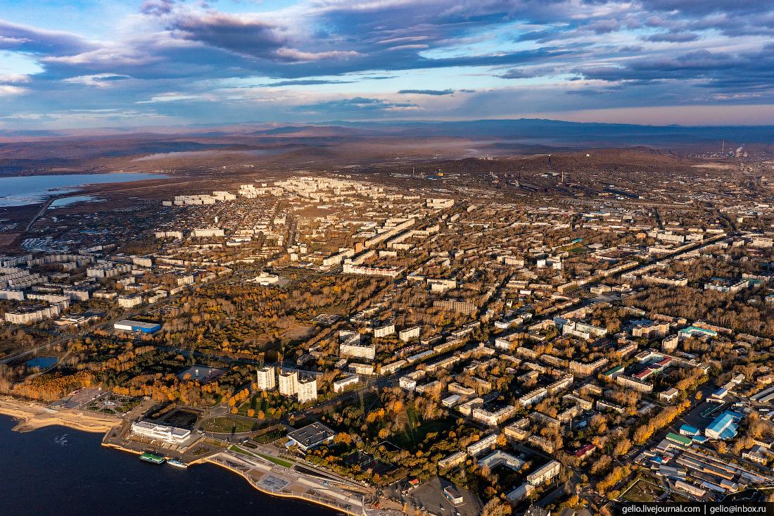 Комсомольск-на-Амуре с высоты, комса, панорама, вид города