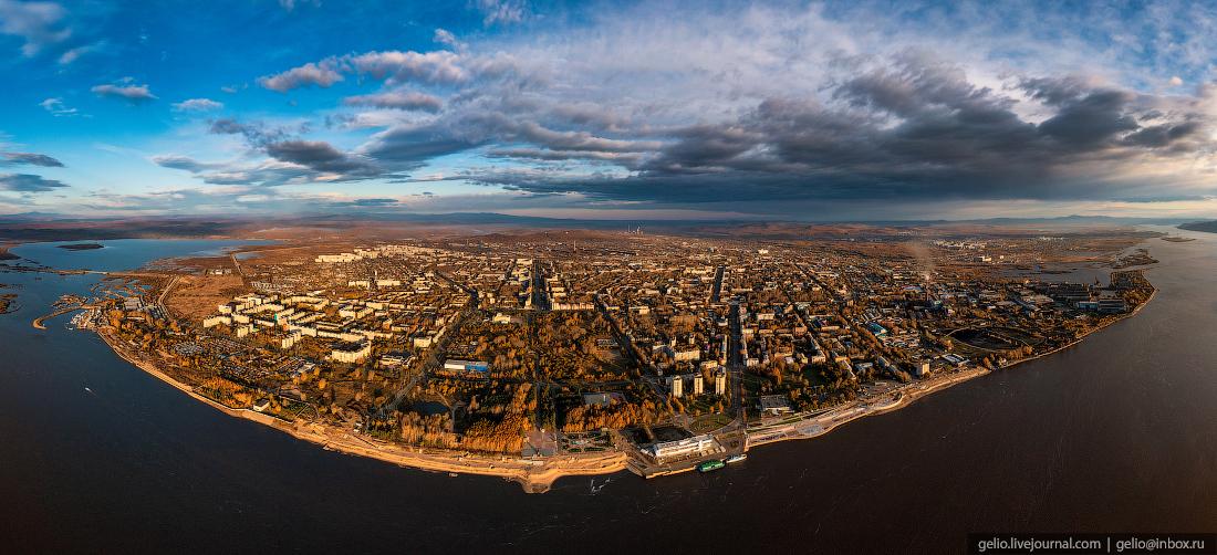 Комсомольск-на-Амуре с высоты, комса, панорама