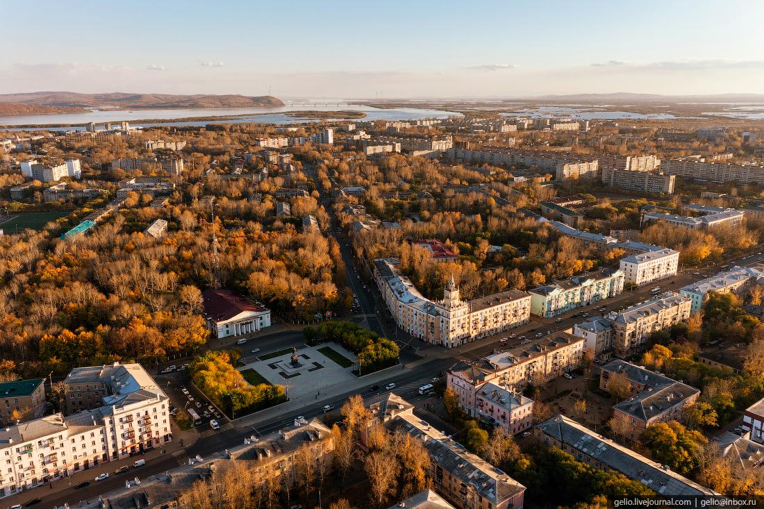 Комсомольск-на-Амуре с высоты, комса, Площадь Ленина