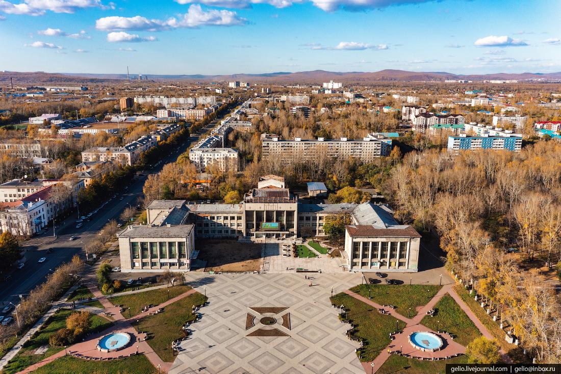 Комсомольск-на-Амуре с высоты, комса, Дворец культуры судостроителей