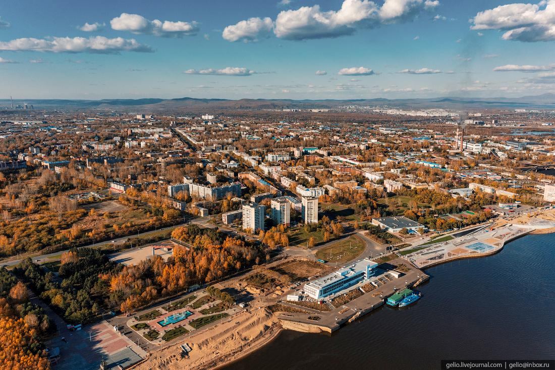 Комсомольск-на-Амуре с высоты, комса