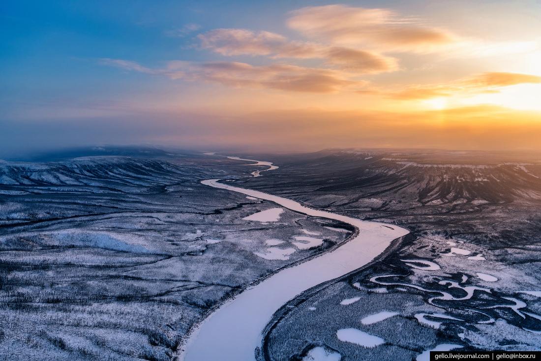 красноярский край, эвенкия, зимняя природа