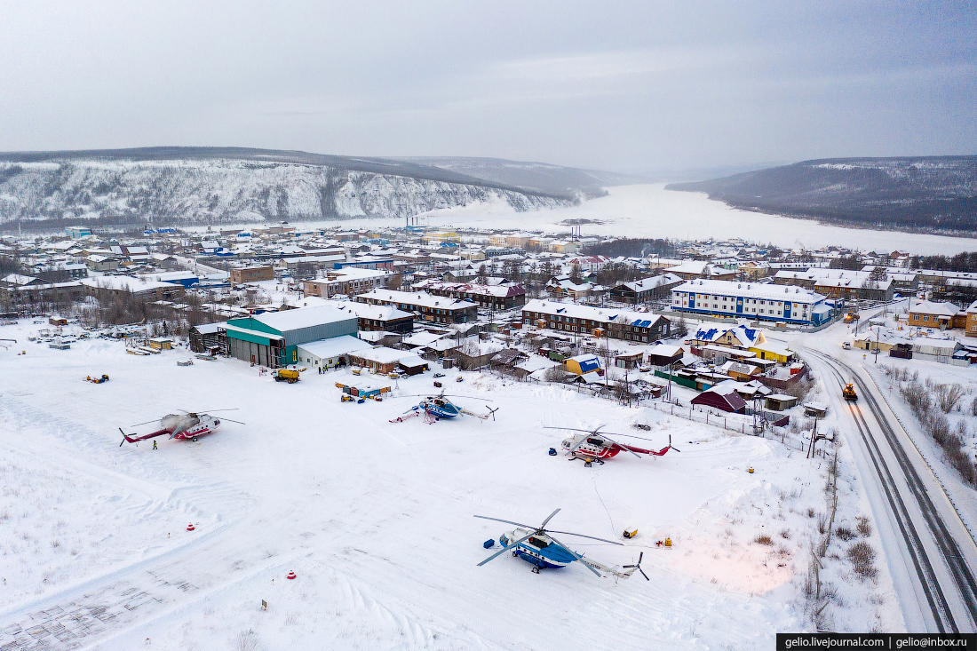Тура, Красноярский край, вертолёт Ми-8, Красавиа