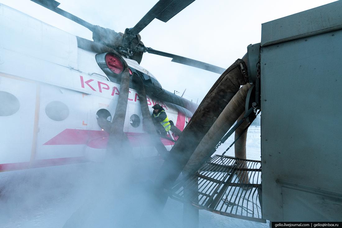 обогрев вертолёта Ми-8, Красавиа
