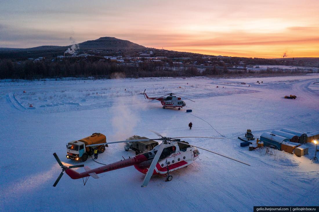 заправка вертолёта Ми-8, Красавиа