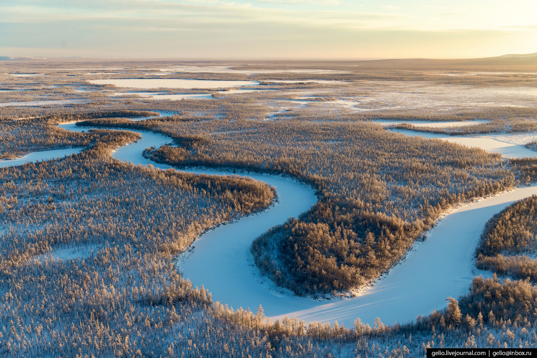 природа красноярского края, эвенкия, зима