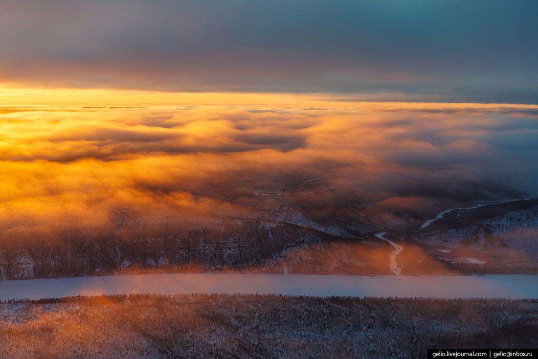 Нижняя Тунгуска, природа красноярского края, эвенкия, зима