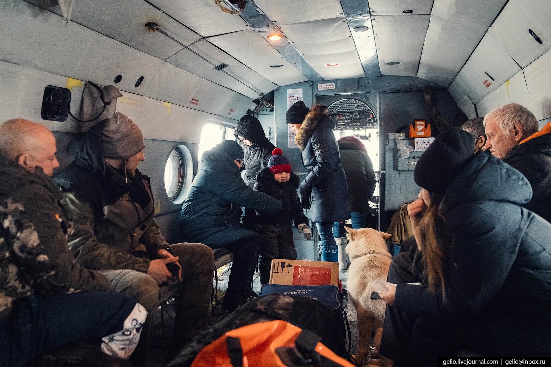 внутри салона вертолёта Ми-8, Красавиа