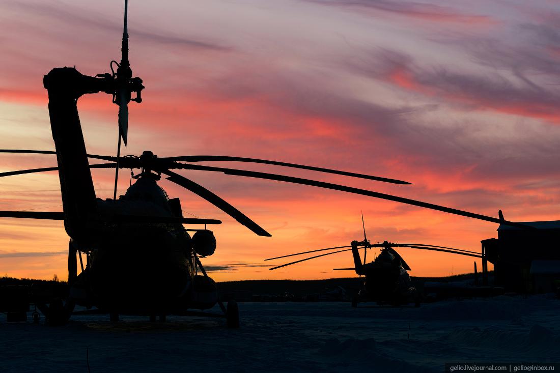 силуэт вертолёта Ми-8, Красавиа