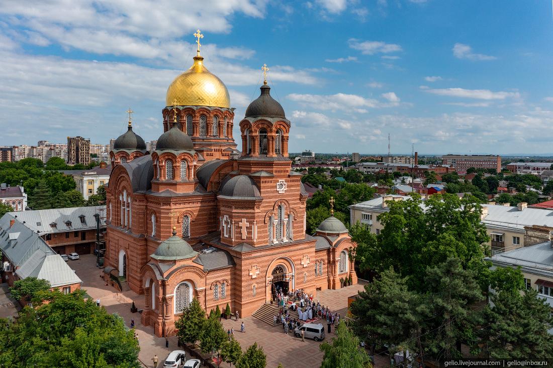 краснодар, краснодар с высоты, Свято-Екатерининский, кафедральный собор
