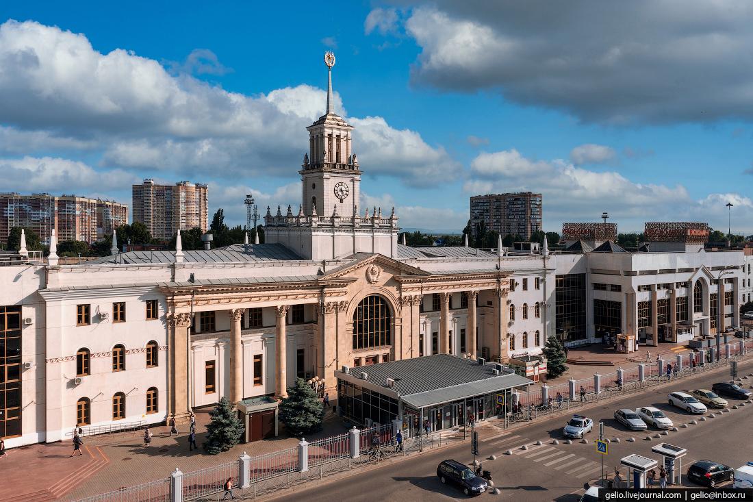 краснодар, краснодар с высоты, железнодорожный вокзал