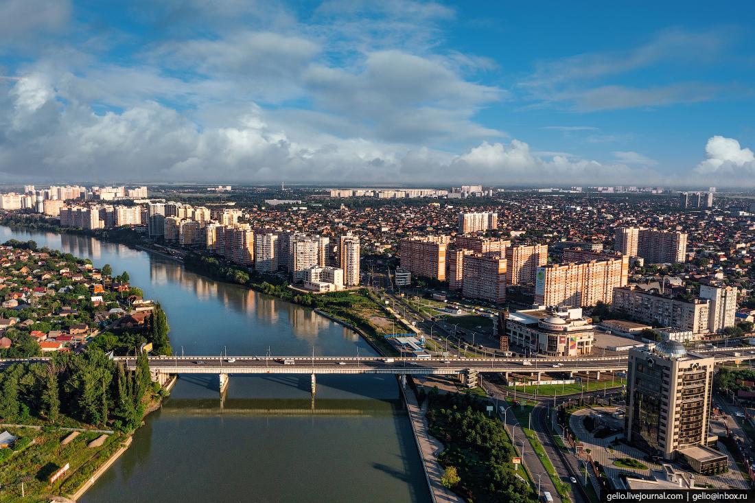 краснодар, краснодар с высоты, Тургеневский мост