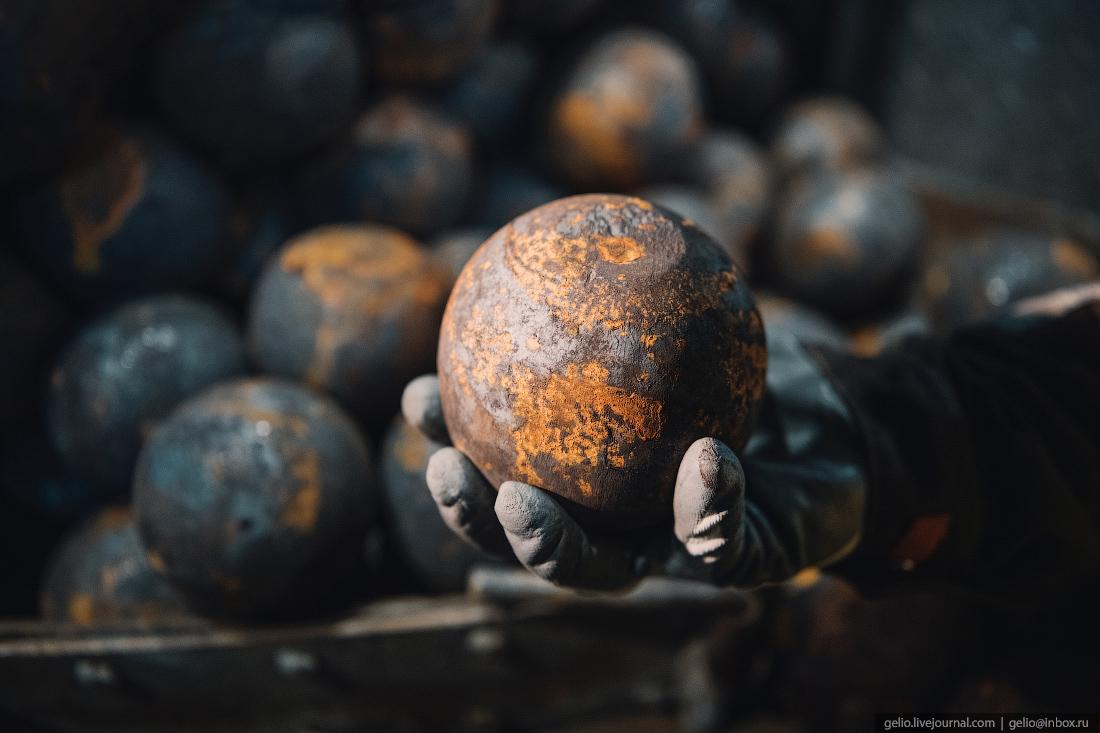 месторождение майское, чукотка, полиметалл, Помольный шар