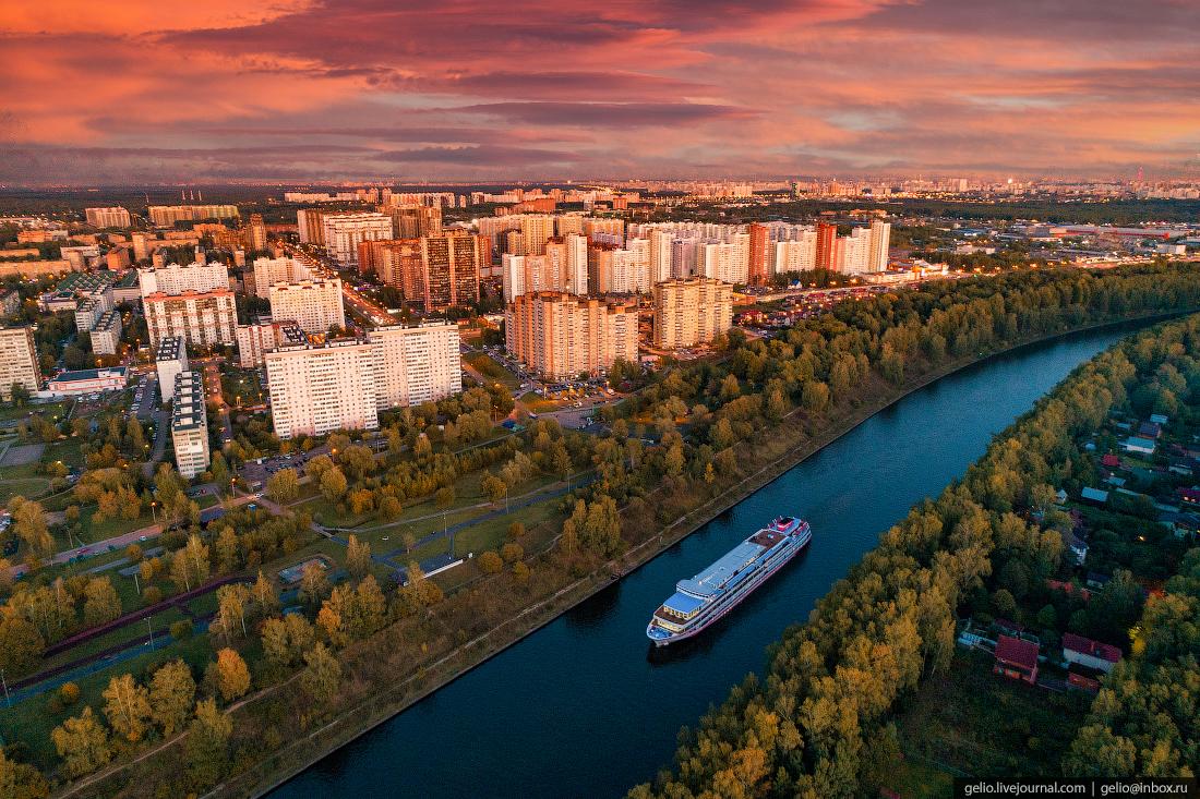 подмосковье московская область Канал имени Москвы в городе Долгопрудном