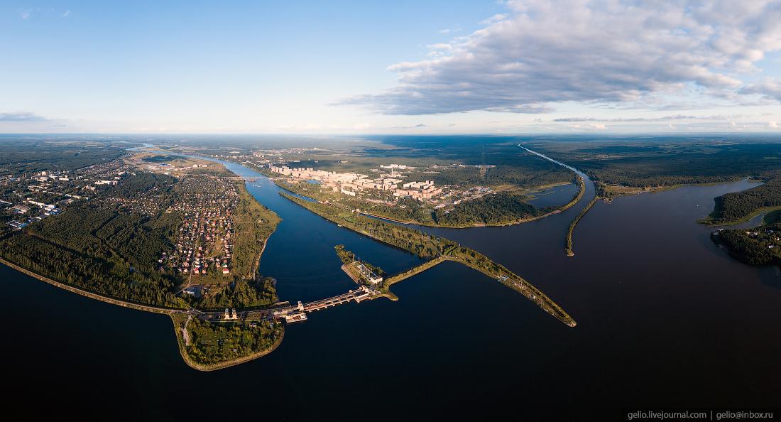 подмосковье московская область Иваньковская ГЭС в наукограде Дубна