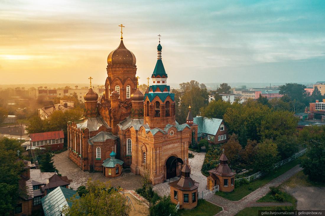 подмосковье московская область Церковь Иоанна Богослова в городе Ликино-Дулёво