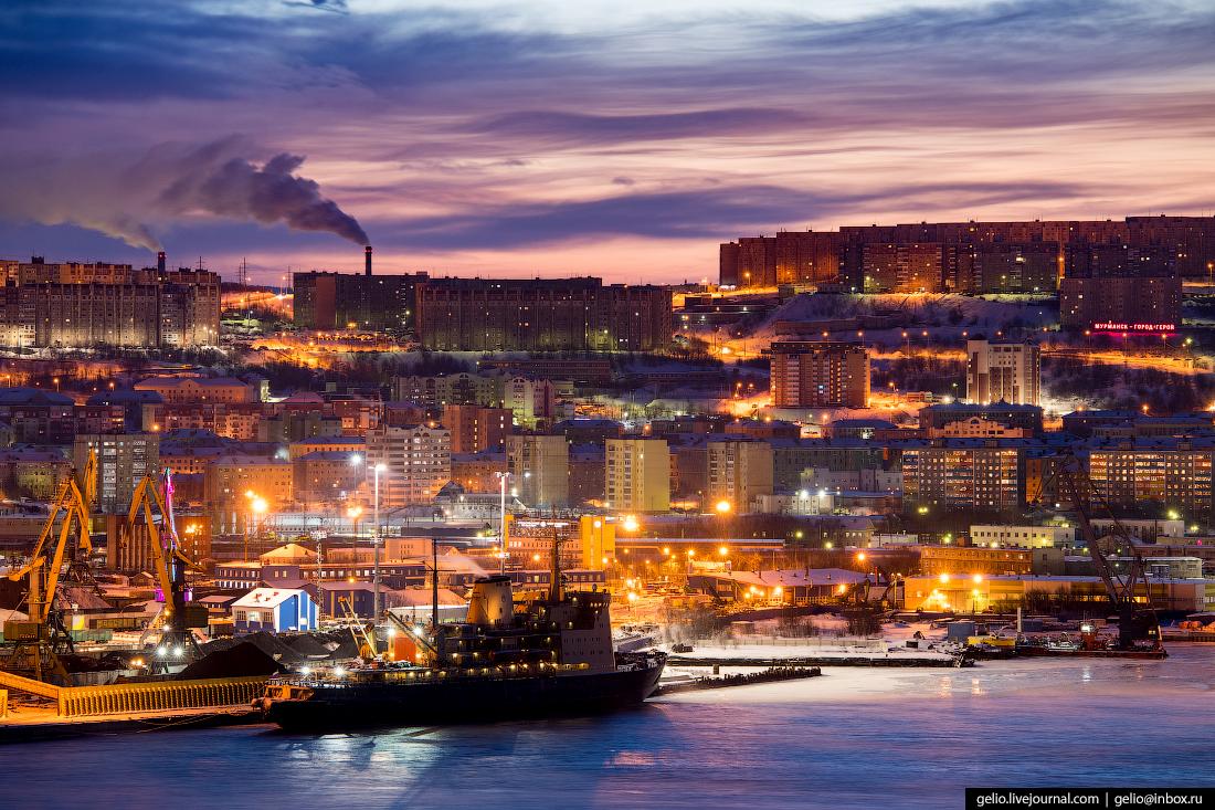 фото Мурманска с высоты, порт