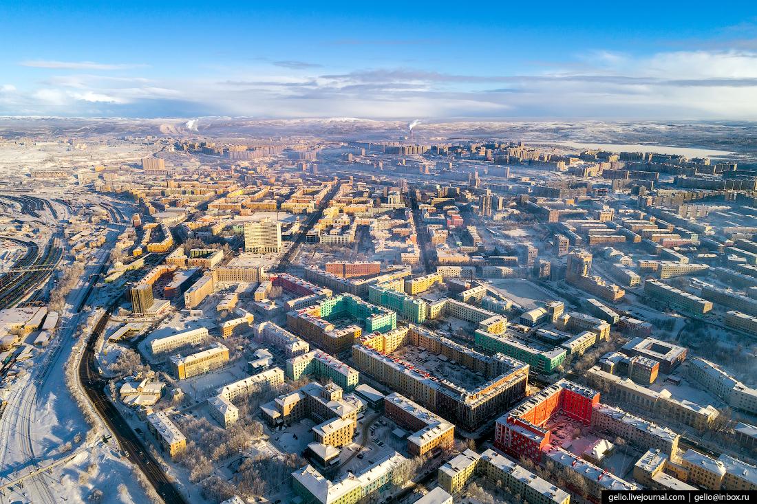 фото Мурманска с высоты
