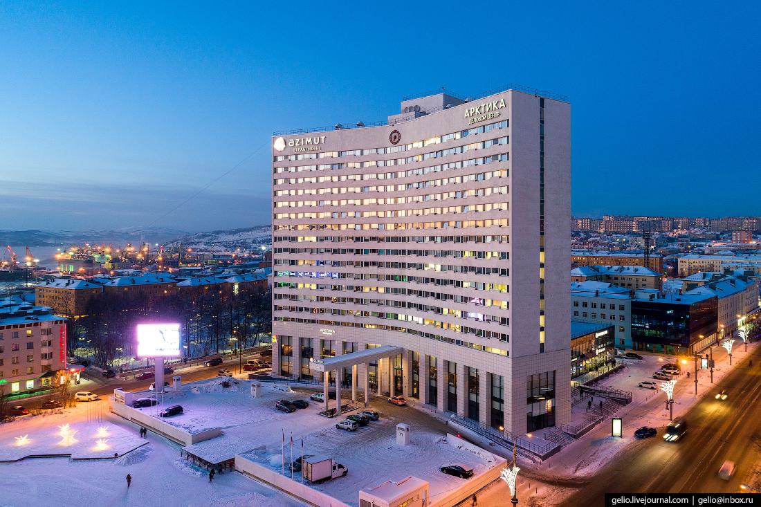 фото Мурманска с высоты, гостиница Арктика