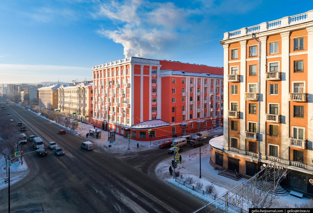 фото Мурманска с высоты, Проспект Ленина, Мурманрыба
