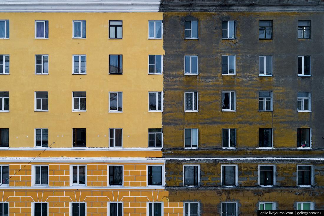 фото Мурманска с высоты, архитектура